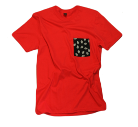 'The Kevin Shirt' Red Pocket Tee